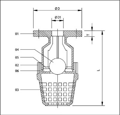 Foot Valve Flange End Parth Plastic Industries An